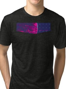 Death Star Targeting Computer Synthwave Tri-blend T-Shirt