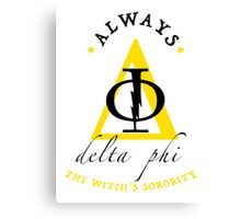 Fake Sorority Delta Phi Canvas Print