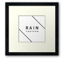 Girls' Generation (SNSD) Taeyeon 'Rain' - Black Framed Print