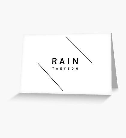 Girls' Generation (SNSD) Taeyeon 'Rain' - Black Greeting Card