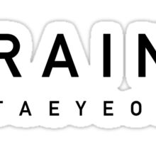 Girls' Generation (SNSD) Taeyeon 'Rain' - Black Sticker