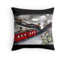 Suspended Reality Throw Pillow