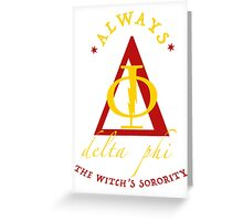 Fake Sorority Delta Phi Greeting Card