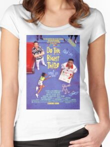 Do The Right Thing Movie Poster Women's Fitted Scoop T-Shirt