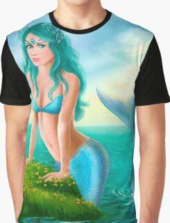 Fantasy beautiful young woman mermaid in sea Graphic T-Shirt
