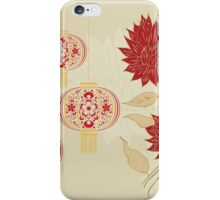 Chinese Lantern with Flowers 4 iPhone Case/Skin