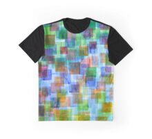 Squares in all the Colors of the Rainbow  Graphic T-Shirt