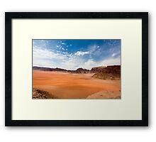 Wadi Rum desert, Jordan  Framed Print
