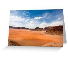 Wadi Rum desert, Jordan  Greeting Card