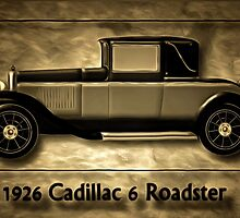 A digital painting of A Cadillac 6 Roadster by Dennis Melling