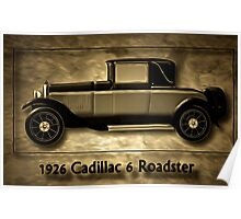 A digital painting of A Cadillac 6 Roadster Poster