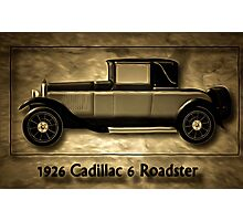 A digital painting of A Cadillac 6 Roadster Photographic Print