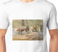 Red Squirrel Leaping Unisex T-Shirt
