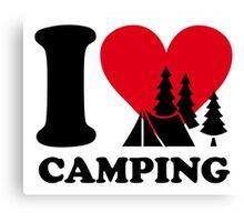 I love camping!  Canvas Print