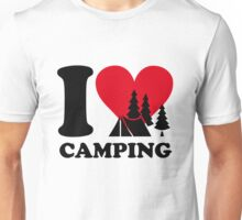 I love camping!  Unisex T-Shirt
