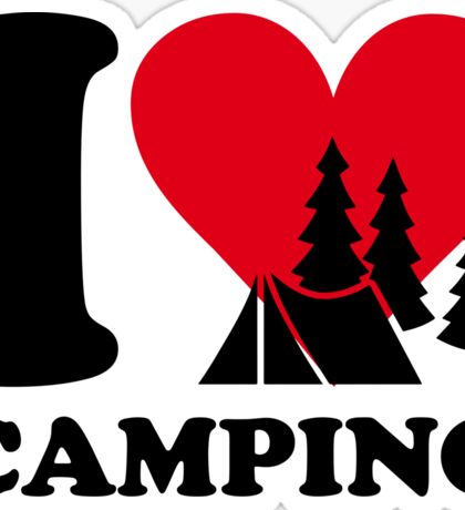 I love camping!  Sticker