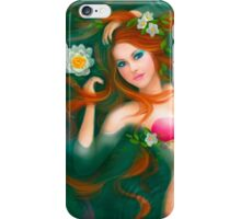 beautiful Fantasy mermaid with lilies iPhone Case/Skin