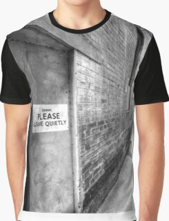 SHHH PLEASE LEAVE QUIETY. Graphic T-Shirt