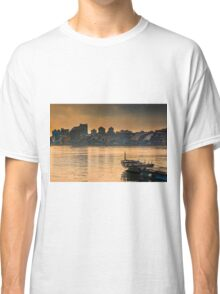 The row boat and the town Classic T-Shirt