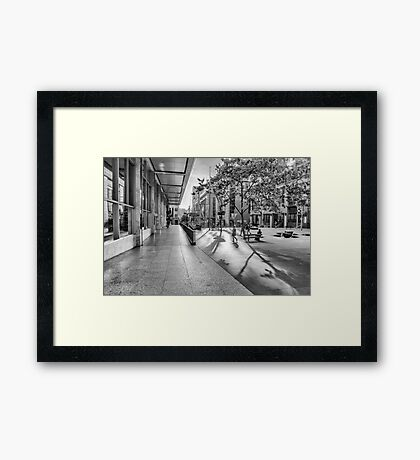 A Good Shadow Is Difficult to Resist - Martin Place - Sydney Framed Print