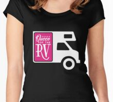 Queen of the RV! Women's Fitted Scoop T-Shirt