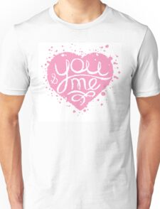 Hand drawn pink painted heart . Unisex T-Shirt