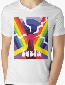 Nikola Psychedelica Mens V-Neck T-Shirt