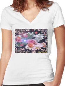 YOUR LIFE AS A GARDEN Women's Fitted V-Neck T-Shirt