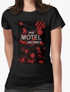 Bloody Bates Motel Womens Fitted T-Shirt