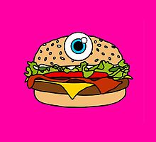 Cyclops Burger Pink by Lucy Lier