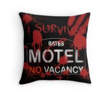 I Survived Bloody Bates Motel Throw Pillow