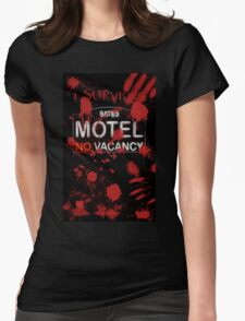 I Survived Bloody Bates Motel Womens Fitted T-Shirt