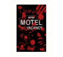 I Survived Bloody Bates Motel Art Print