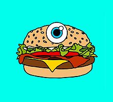 Cyclops Burger Blue by Lucy Lier