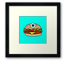 Cyclops Burger Blue Framed Print