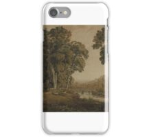 George Barret Junior  Title Landscape with a Bridge iPhone Case/Skin