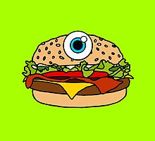 Cyclops Burger Green by Lucy Lier