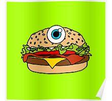 Cyclops Burger Green Poster