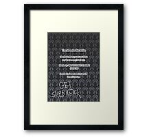 BBC Sherlock-Moriarty funny quote Framed Print