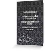 BBC Sherlock-Moriarty funny quote Greeting Card