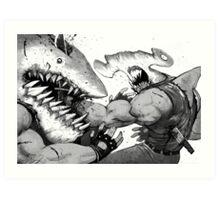 FISH FIGHT! Art Print