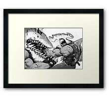 FISH FIGHT! Framed Print