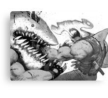 FISH FIGHT! Metal Print