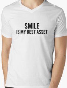 SMILE IS MY BEST ASSET Mens V-Neck T-Shirt