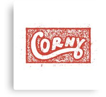 Corny Stamp Canvas Print