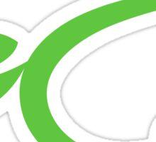 Green energy icon logo sticker Sticker