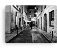 rue de nesle in Saint Germain Paris Canvas Print
