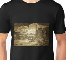 A digital painting of Dartmouth and Kingswear Castles, Devon Unisex T-Shirt