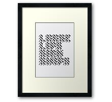 loose lips sink ships dazzle typography Framed Print