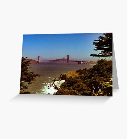 Retro San Francisco Greeting Card